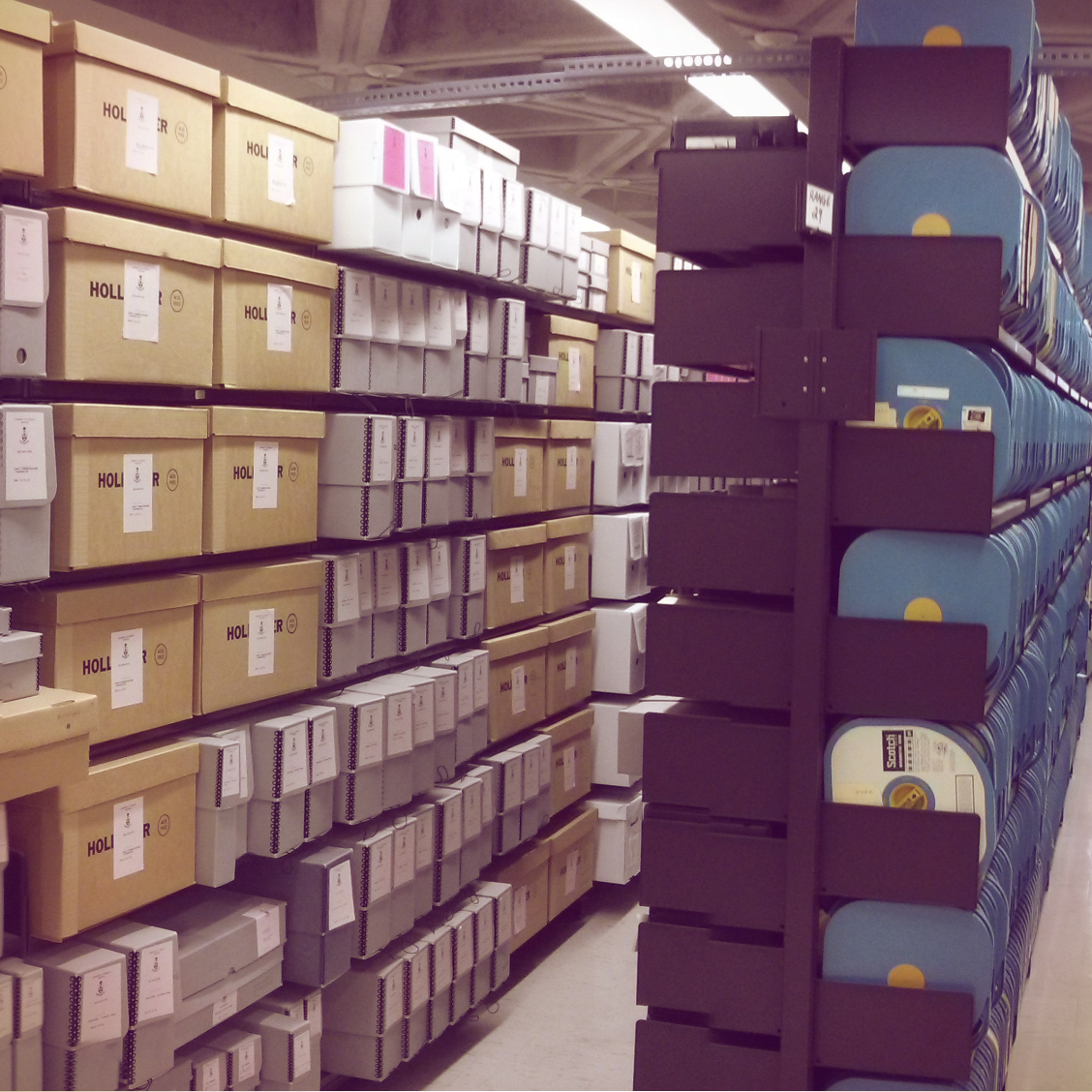 Image of the University of Toronto Archives stacks