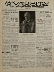 Cover of The Varsity, 1 October 1936