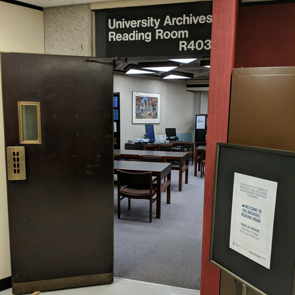 Archives Reading Room entrance
